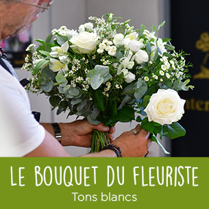 Bouquet de fleurs Bouquet du fleuriste Blanc