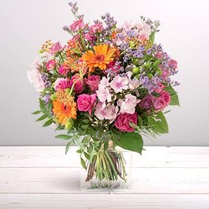 Bouquet de fleurs Bohème Remerciements