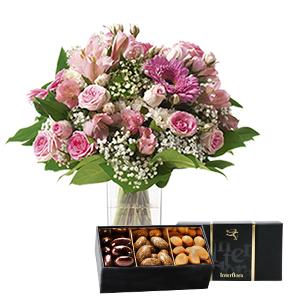 Bouquet de fleurs Bonheur gourmand Anniversaire