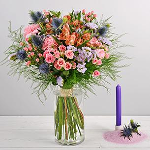 Bouquet de fleurs Flanelle Remerciements