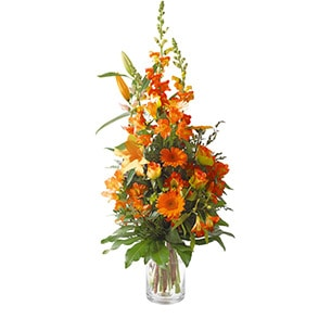 Bouquet de fleurs Harmonie orange