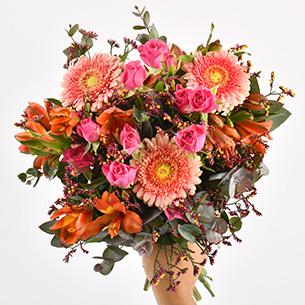 Bouquet de fleurs Liberty Remerciements