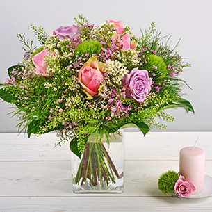 Bouquet de fleurs Organza Remerciements