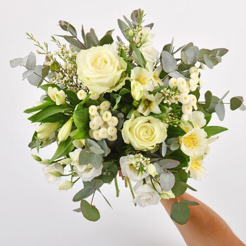 Bouquet de fleurs Paradis blanc