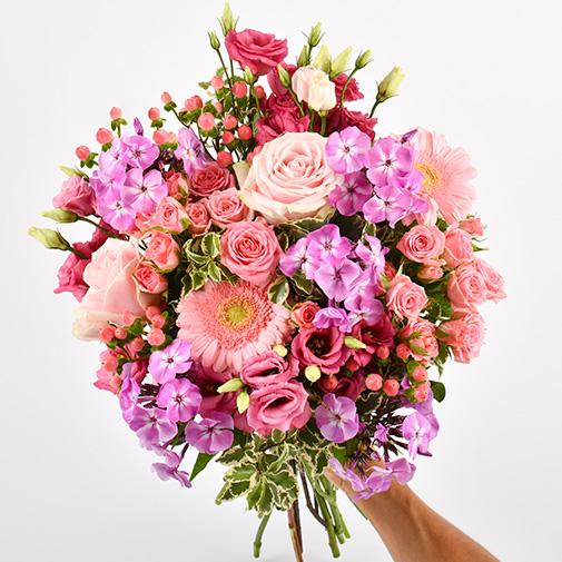 Bouquet de fleurs Pink et parme