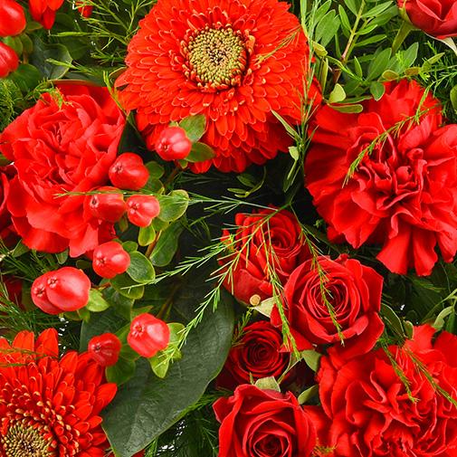 Bouquet de fleurs Pomme d'amour et ses amandes au chocolat