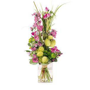 Bouquet de fleurs Saphir rose Anniversaire