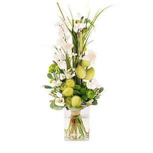Bouquet de fleurs Saphir blanc Mariage invité