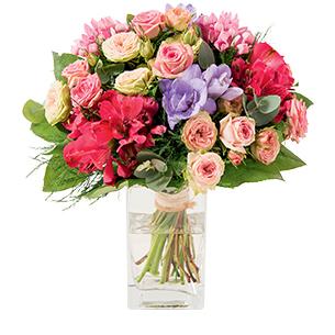 Bouquet de fleurs Soie Amour