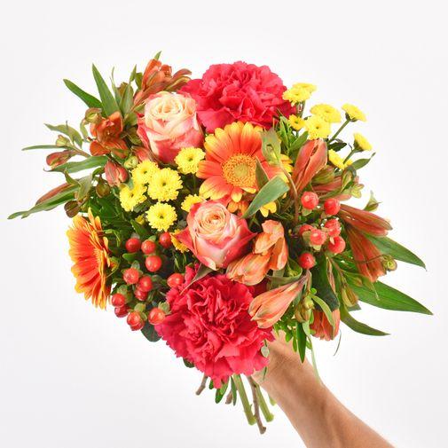 Bouquet de fleurs Tutti frutti et son ourson Harry
