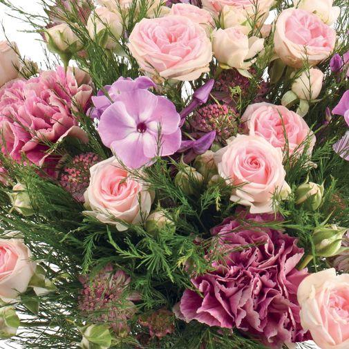 Bouquet de fleurs Velours et sa bougie parfumée Esteban