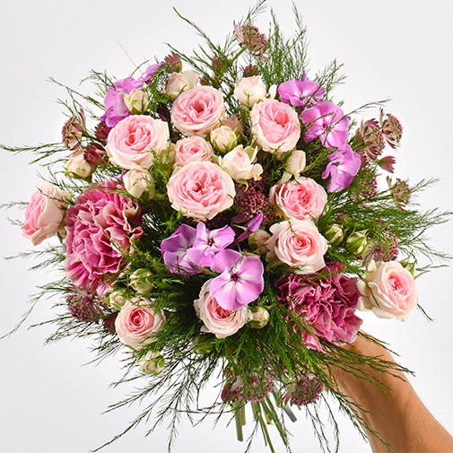 Bouquet de fleurs Velours et son ourson Harry