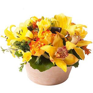 Composition florale Ambre Remerciements