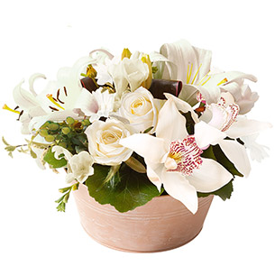Composition florale Ambre blanc Mariage invité