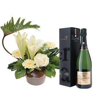 Fleurs et cadeaux Chou et son champagne Devaux Interflora Collection Hommes