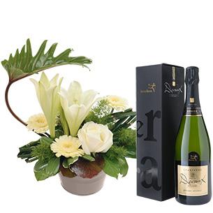 Fleurs et cadeaux Chou et son champagne