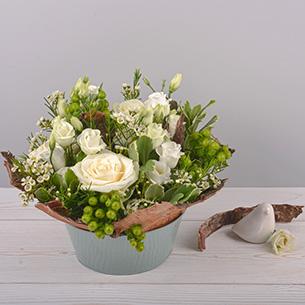 Composition florale Cocon Mariage invité