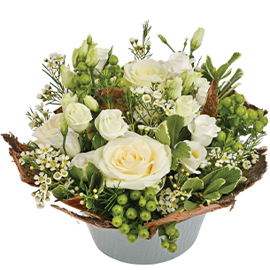 Composition florale Cocon Mariage