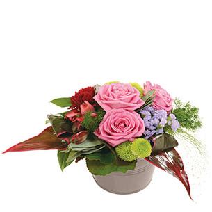 Composition florale Chérubin Anniversaire
