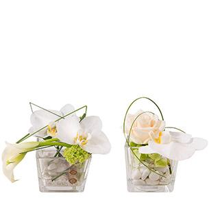 Composition florale Duo zen Anniversaire