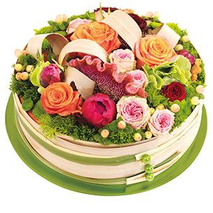 Composition florale Perroquet Anniversaire