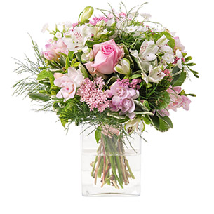 Composition florale Rosa Amour
