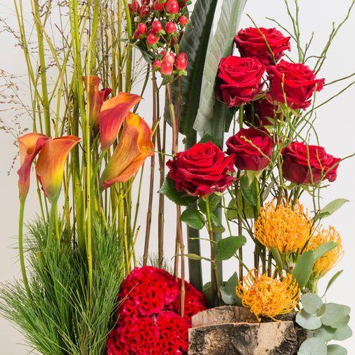 Fleurs deuil Jardin du souvenir