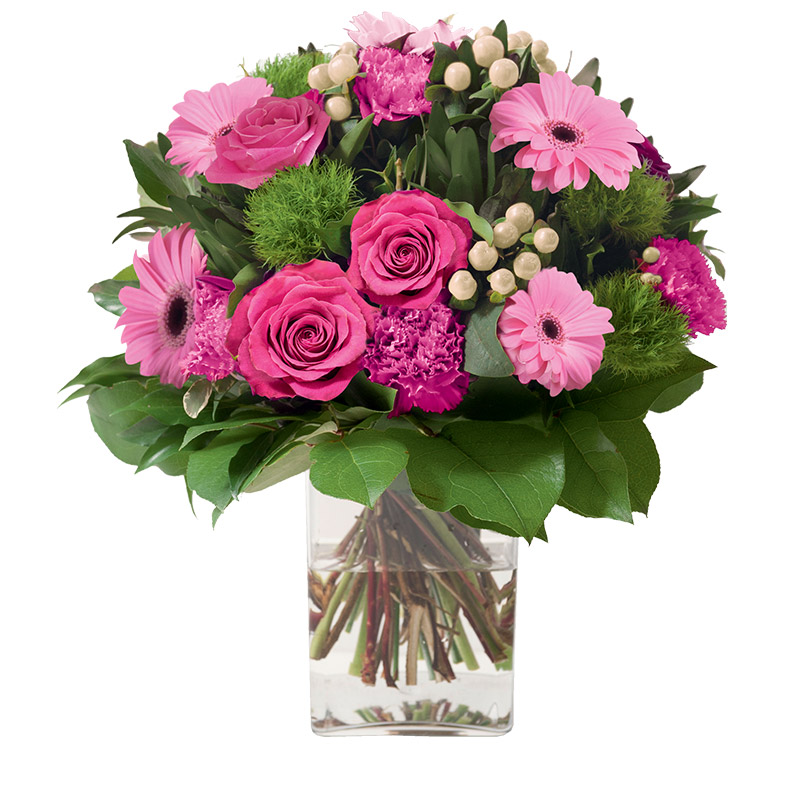 Fleurs deuil Amour éternel rose