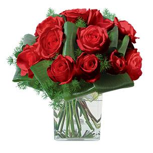 Fleurs deuil Olympie rouge Deuil