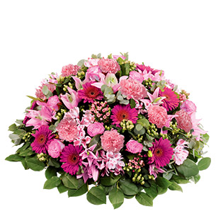 Fleurs deuil Mémorial rose Deuil
