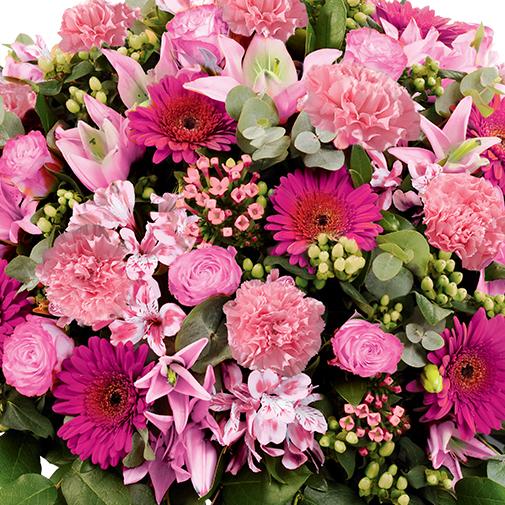 Fleurs deuil Mémorial rose