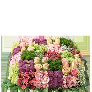 Fleurs deuil Damier Deuil