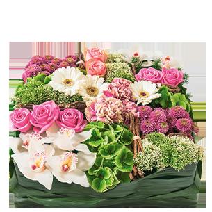 Fleurs deuil Requiem rose Deuil