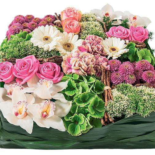 Fleurs deuil Requiem rose