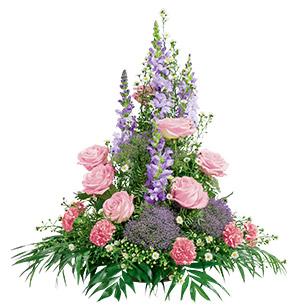 Fleurs deuil Elégance rose parme Deuil