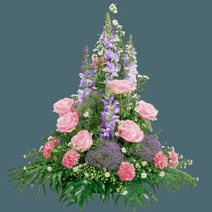 Fleurs deuil Elégance rose Deuil