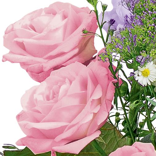 Fleurs deuil Elégance rose parme