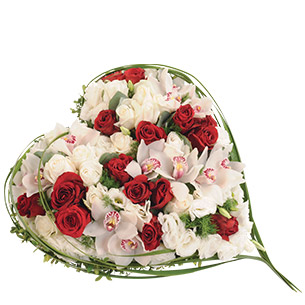 Fleurs deuil Cœur du souvenir Deuil