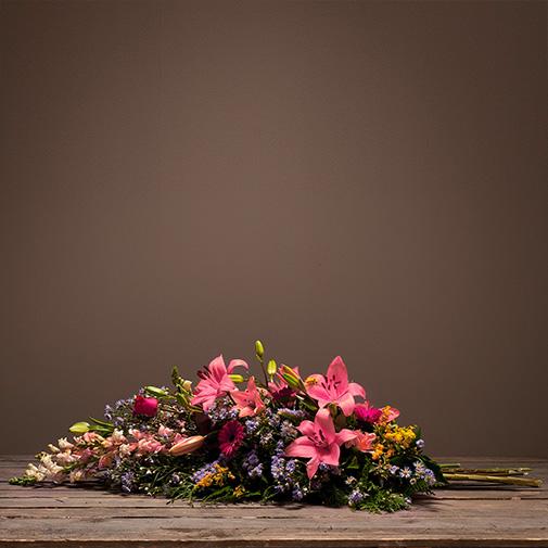Fleurs deuil Symphonie rose
