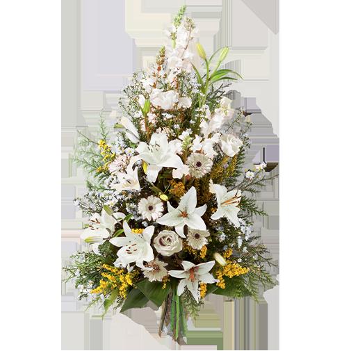 Fleurs deuil Symphonie blanc
