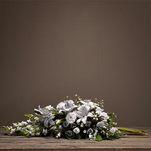Fleurs deuil Hommage blanc Deuil