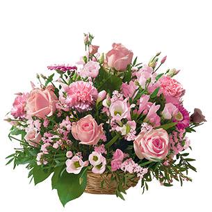 Fleurs deuil Cérémonie rose