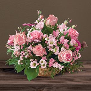 Fleurs deuil Cérémonie rose Deuil