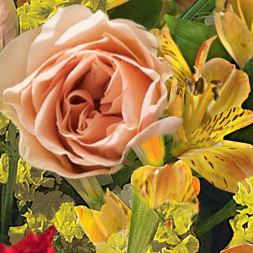 Fleurs deuil Cérémonie orange