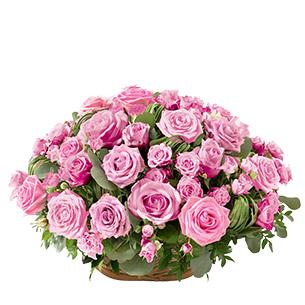 Fleurs deuil Rosae rose Deuil