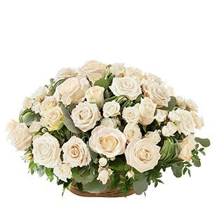 Fleurs deuil Rosae blanc Deuil