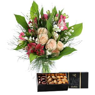 Fleurs et cadeaux Petit bonheur et ses amandes au chocolat