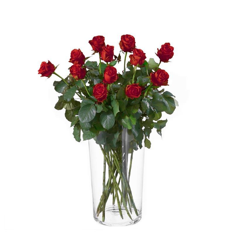 Bouquet de fleurs 12 red roses