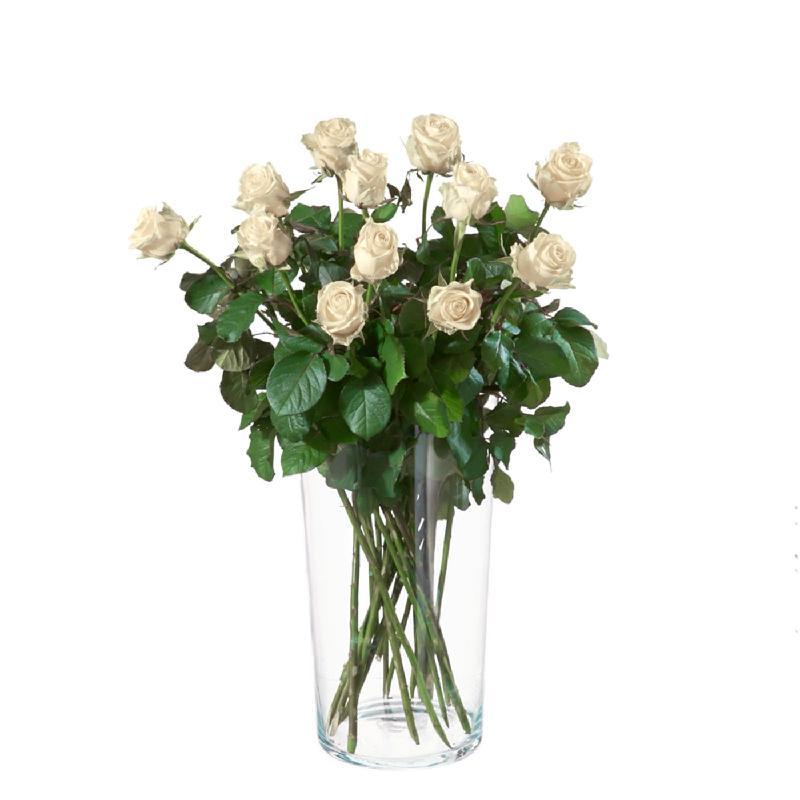 Bouquet de fleurs 12 White roses