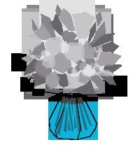 Bouquet de fleurs Bulle d'eau